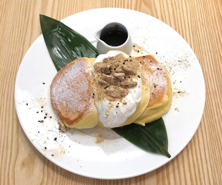 黒胡麻ときな粉クルミのパンケーキ